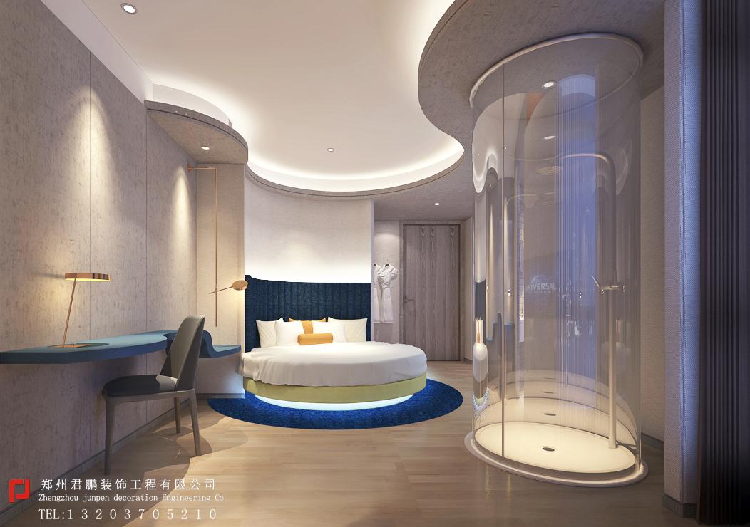 星际酒店特色房型圆床房